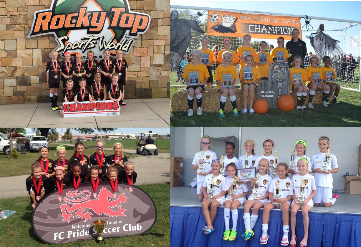 CU Ajax girls (U10) round off a great year with Gatlinburg title